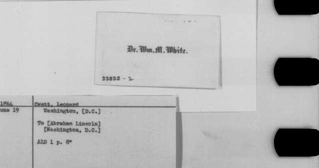 Leonard Swett to Abraham Lincoln, Sunday, June 19, 1864  (Seeks office)
