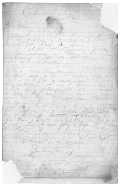 Letter from Tilton C. Reynolds to Juliana Smith Reynolds, June 7, 1864