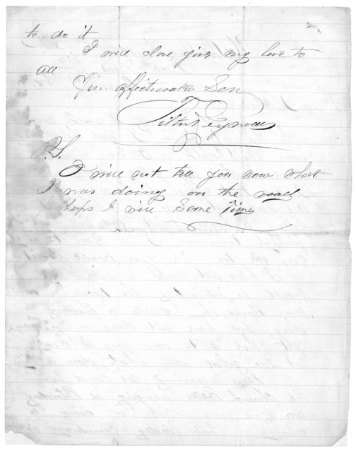 Letter from Tilton C. Reynolds to Juliana Smith Reynolds, November 27, 1864