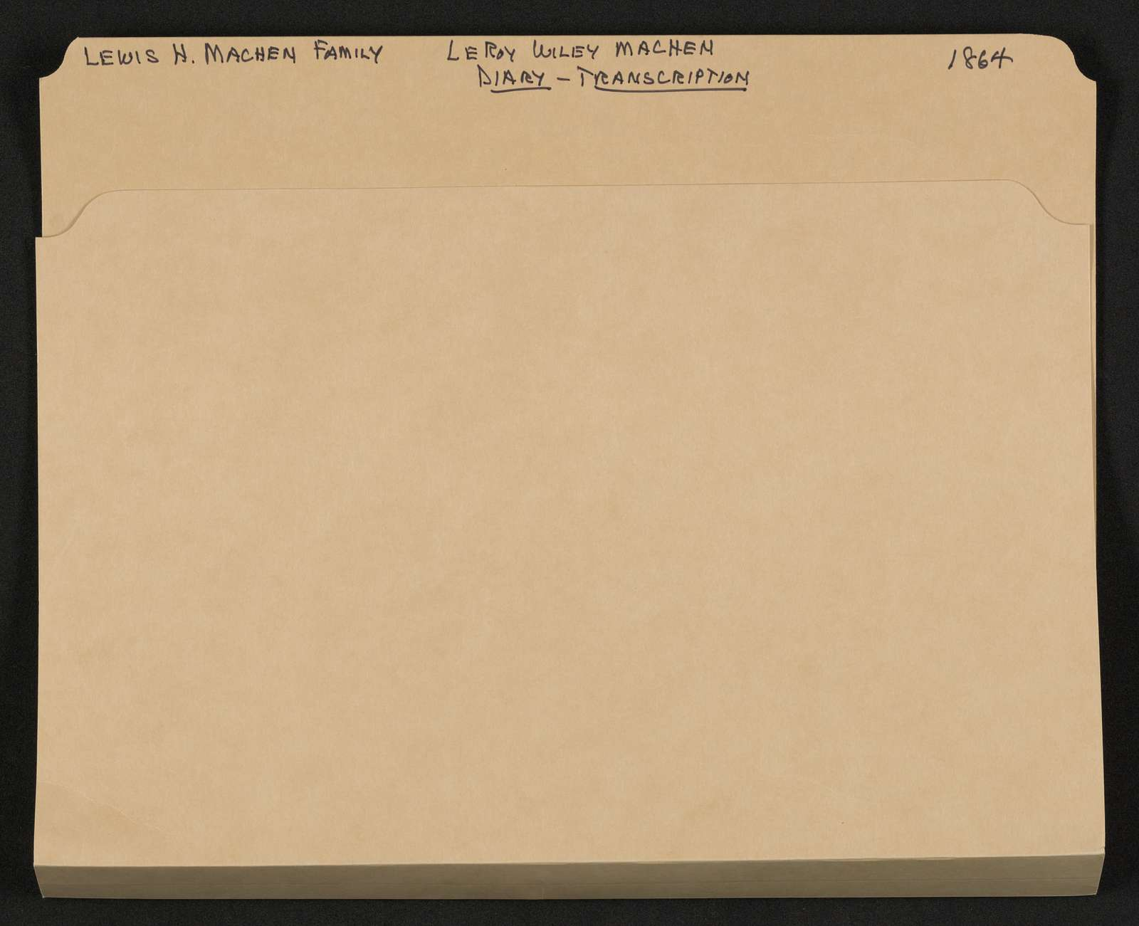 Lewis H. Machen Family Papers: Diaries and Diary Transcriptions, 1860-1865; Diaries; Gresham, LeRoy Wiley; Transcriptions; 1864