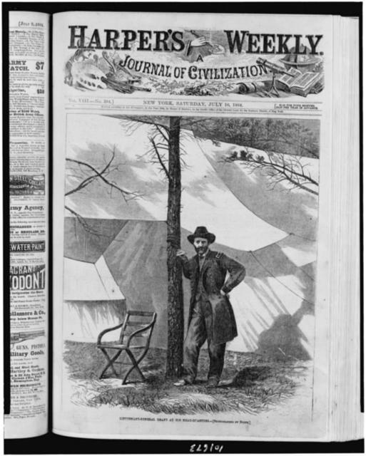 Lieutenant-General Grant at his head-quarters / photographed by Brady.