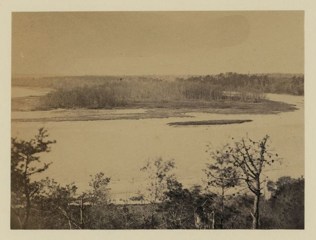 Looking up Appomattox River, from Point of Rocks, December 1864