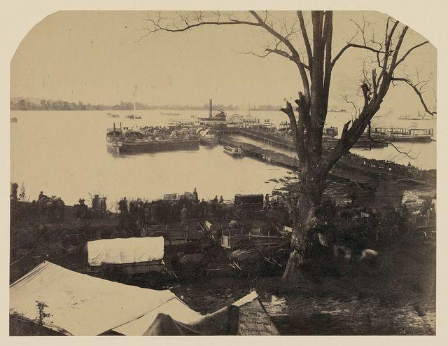 Lower wharf, Belle Plain, built by U.S.M.R.R. Construction Corps