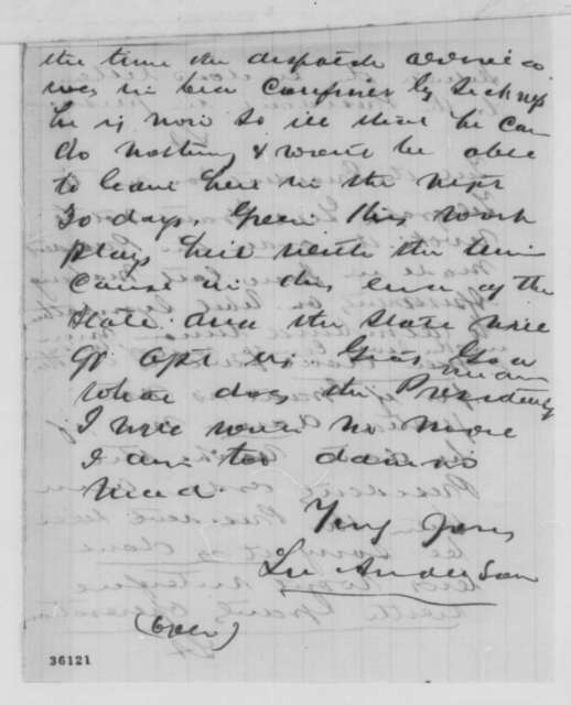 Lucien Anderson to Green Adams, Saturday, September 10, 1864  (Affairs in Kentucky)