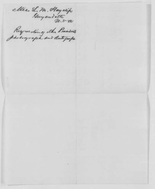 Luella M. Hayslip to Abraham Lincoln, Monday, September 12, 1864  (Autograph request)