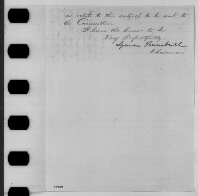 Lyman Trumbull to Abraham Lincoln, Wednesday, June 15, 1864  (Seating of Senators-elect from Arkansas)