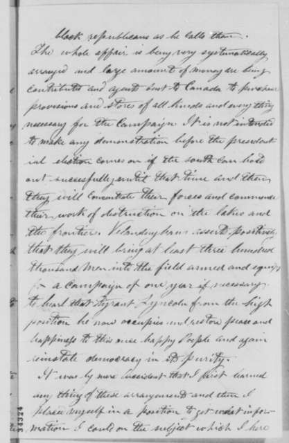 M. C. Moe to Abraham Lincoln, Thursday, July 07, 1864  (Conspiracy led by Clement L. Vallandigham)
