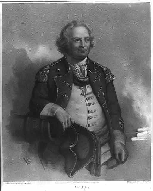 """Maj. Gen. Israel Putnam. """"He dared to lead where any dared to follow"""" / Fabronius."""