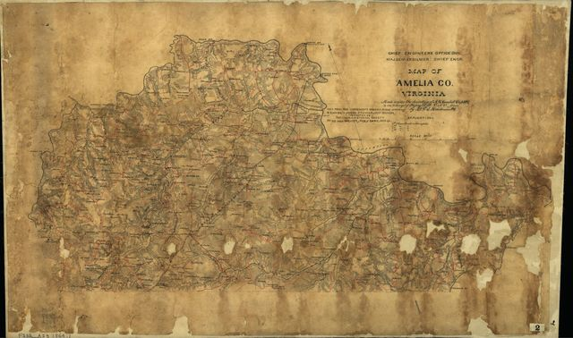 Map of Amelia Co., Virginia : made under the direction of A.H. Campbell, Capt. P.E. & in charge of Topog. Dept. D.N.V.