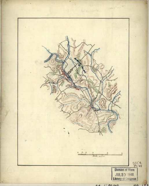 [Map of cavalry engagement near Bridgewater, Va., Oct. 4th and 5th, 1864 /