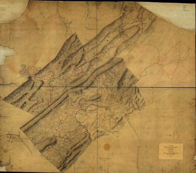 [Map of Craig, Giles, Montgomery and Pulaski counties, Va.].