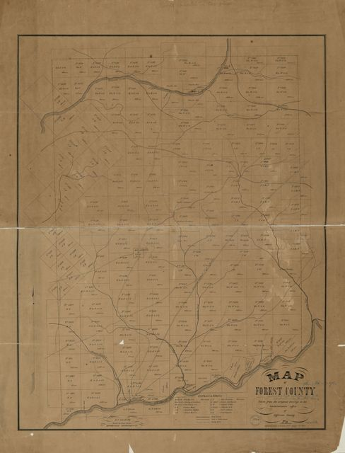 Map of Forest County : taken from the original surveys in the commissioners' office of Jefferson County, Pa. /