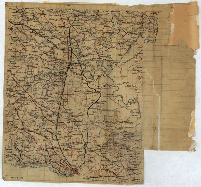 [Map of Henrico, Hanover and Caroline counties.]