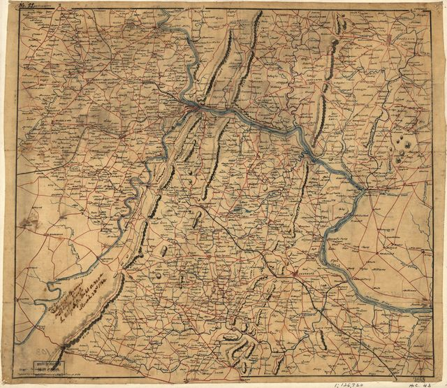 [Map of Loudoun County and part of Clarke County, Va., Jefferson County and part of Berkeley County, W. Va., and parts of Montgomery and Frederick counties, Md.].