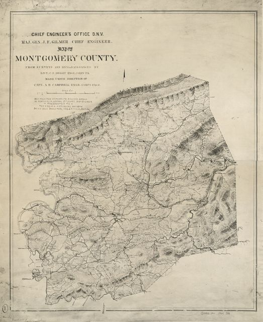 Map of Montgomery County /