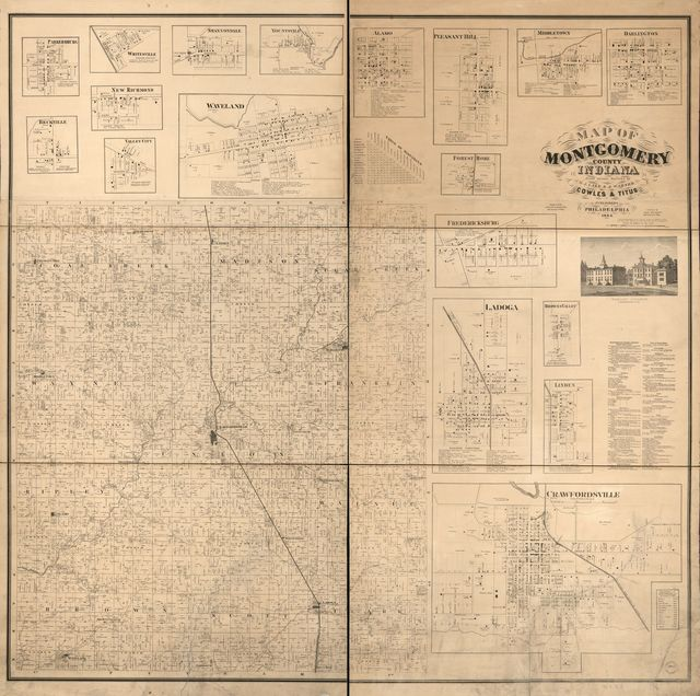 Map of Montgomery County, Indiana /
