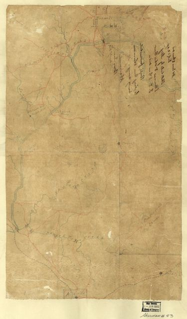 [Map of part of Fulton County, Georgia, from Roswell south to Atlanta, July 13, 1864].