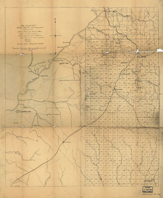 Map of part of Fulton, Fayette, and Campbell counties, from surveys, state map, and information, extra copies to be filled up and returned for second edition /