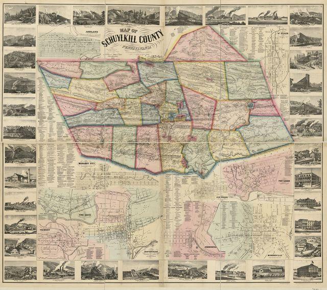 Map of Schuylkill County, Pennsylvania : from actual surveys /