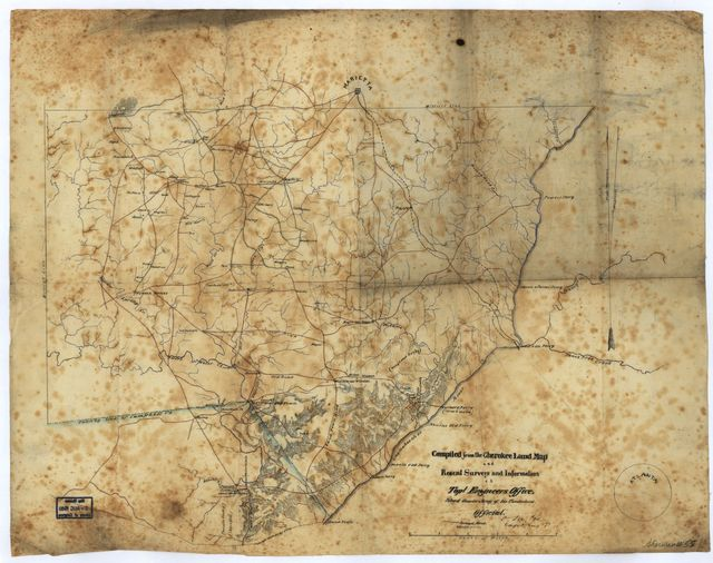 [Map of southern portion of Cobb County, Georgia, from Marietta to the Chattahoochee River] /