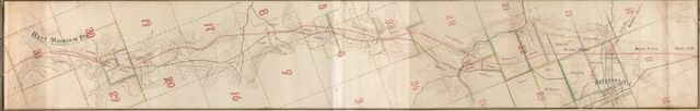 [Map of the Alabama and Tennessee River Railroad between Blue Mountain Station and Jacksonville, Calhoun County, Alabama] /