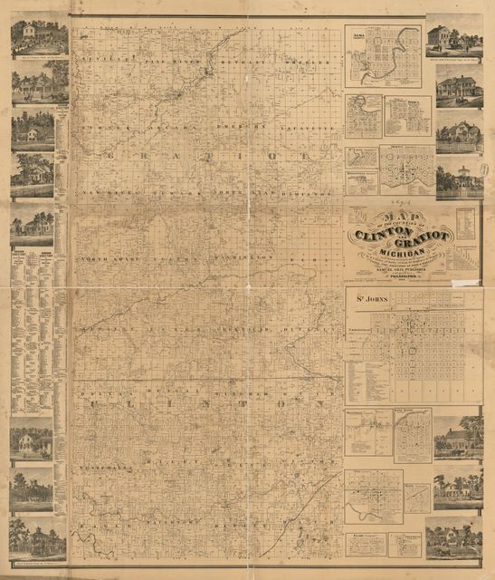 Map of the counties of Clinton and Gratiot, Michigan /