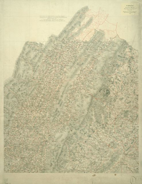 [Map of the counties of Greene, Madison, Page, and Rockingham, and parts of the counties of Albemarle, Augusta, Culpeper, Louisa, Orange, and Rappahannock, Va.]