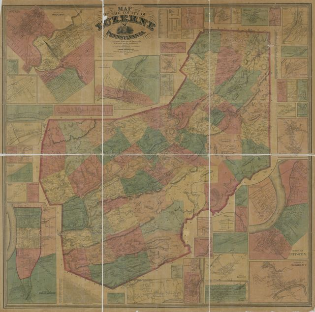 Map of the county of Luzerne, Pennsylvania /