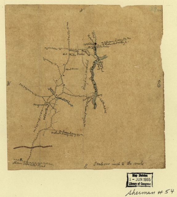 [Map of the environs of Powers and Isoms ferries, Cobb County, Georgia].