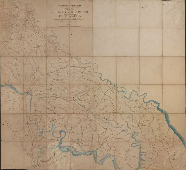 Map of the vicinity of Richmond and part of the Peninsula /