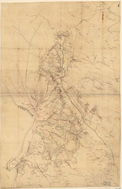 [Map of the vicinity of Richmond, north and east of the James River].