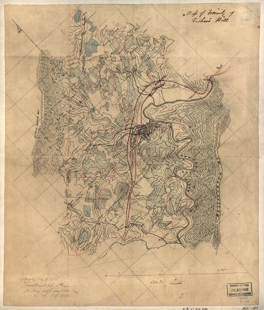 Map of vicinity of Fisher's Hill /