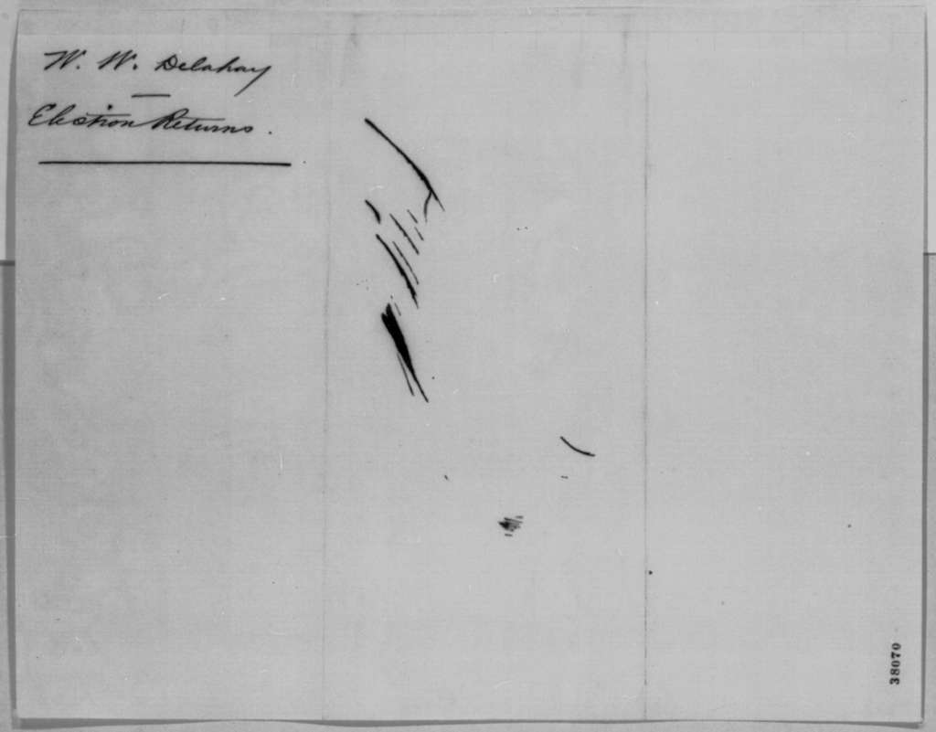 Mark W. Delahay to Abraham Lincoln, Wednesday, November 09, 1864  (Kansas election results)