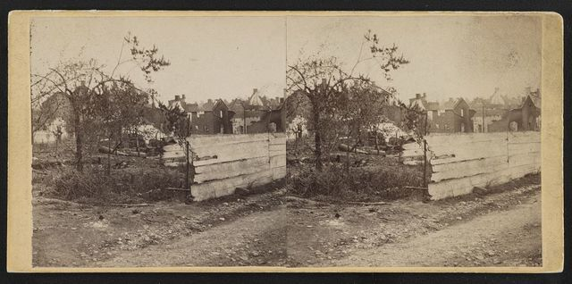 Market Street near Second - looking south-west, Chambersburg, Franklin Co., Pa., destroyed by the rebels under McCausland, July 30th, 1864.