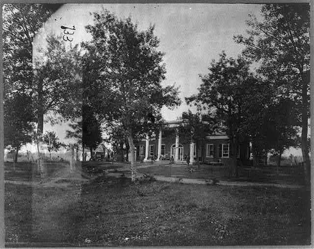 Marye House, near Fredericksburg, Va. Rifle Pits in front