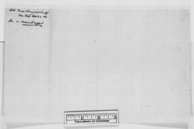 Max Langenschwartz to Abraham Lincoln, Saturday, October 22, 1864  (Politics)