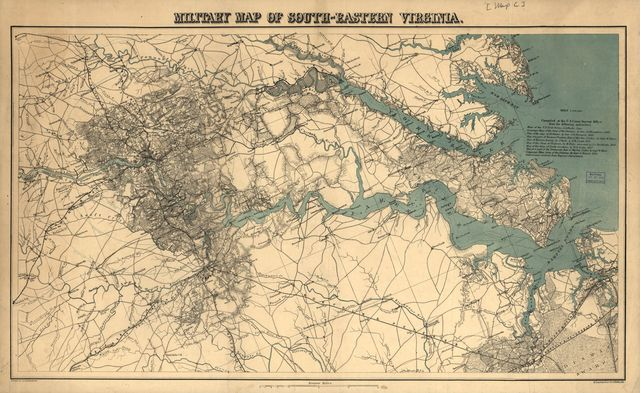 Military map of south-eastern Virginia,