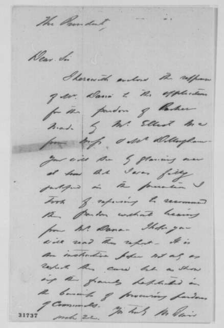 Montgomery Blair to Abraham Lincoln, March 22, 1864  (Cover letter)
