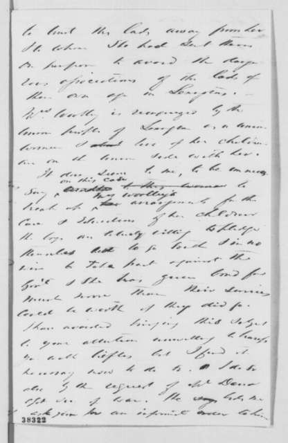 Montgomery Blair to Abraham Lincoln, Tuesday, November 15, 1864  (Release of Mrs. Wooley's sons)