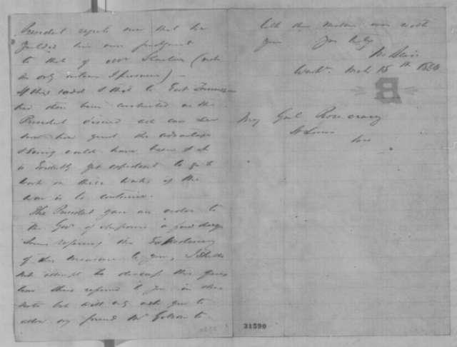 Montgomery Blair to William S. Rosecrans, Tuesday, March 15, 1864  (Southwest branch of Pacific Railroad)