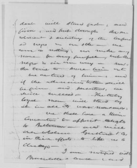 Mortimer M. Benton to Salmon P. Chase, Wednesday, March 16, 1864  (Presidential politics)