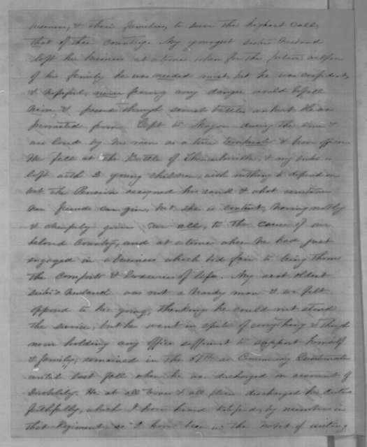 Mrs. R. A. Burnham to Abraham Lincoln, Thursday, March 24, 1864  (Seeks release of relative from Confederate prison)