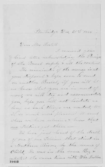 Mrs. S. T. Blair to Mrs. P. A. Bortell, Wednesday, December 21, 1864  (Photograph of John Phillips)