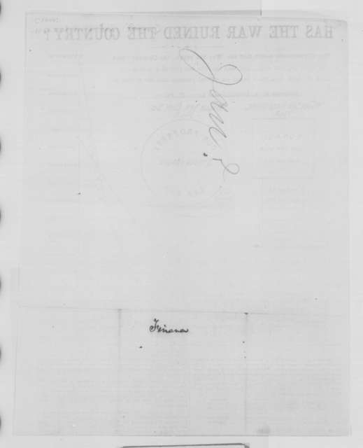 National Union Executive Committee, [1864]  (Printed broadside)