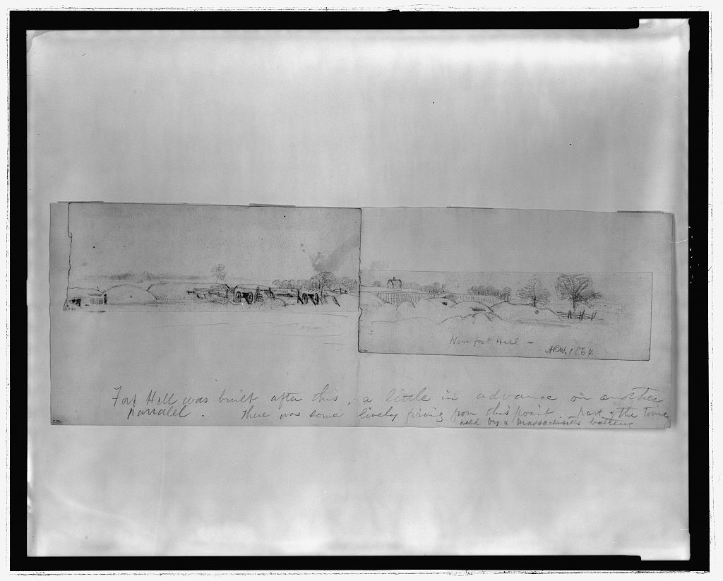Near fort Hill. 1864