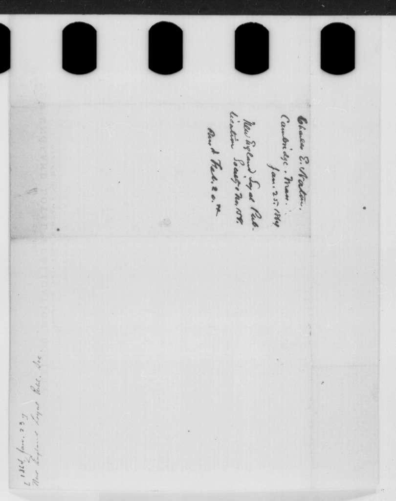 New England Loyal Publication Society, Saturday, January 23, 1864  (Printed broadside)
