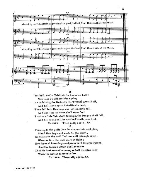 Nomination song words by Chas. Haynes; music by J.E. Haynes.