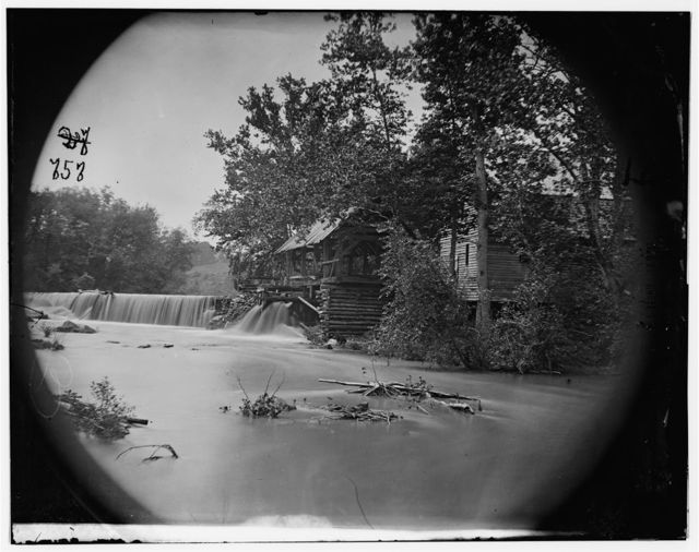 North Anna River, Virginia. Quarles mill on North Anna where a portion of 5th Corps under Gen. Warren crossed, May 23, 1864