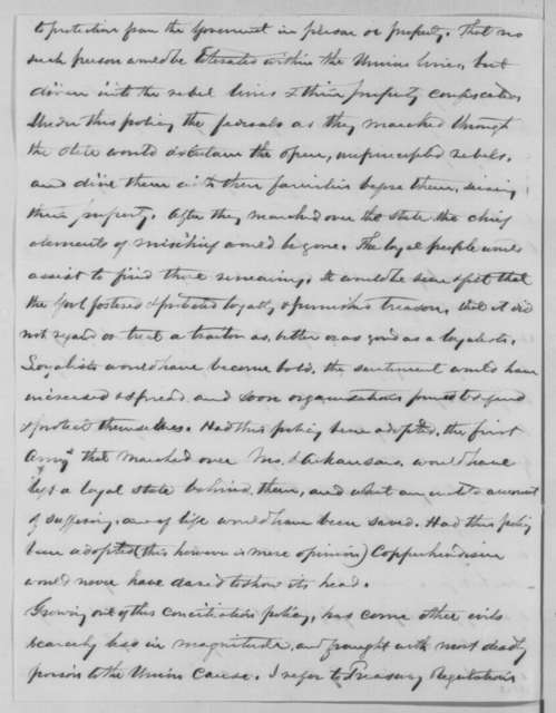 Obadiah H. Platt to Abraham Lincoln, Wednesday, August 31, 1864  (Critical of Lincoln's conciliatory policy towards rebels)