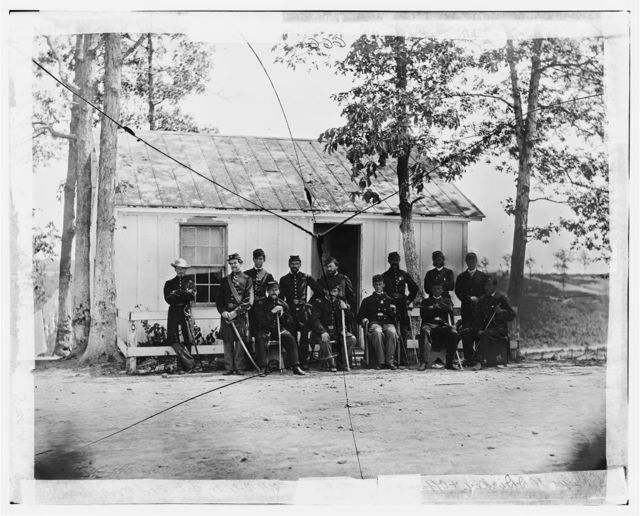 Officers of 3rd Battalion, 15th New York Heavy Artillery Fort Woodbury, Arlington, Va.